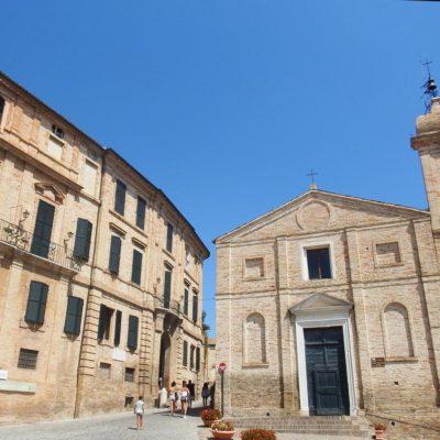 Palazzo Leopardi e chiesa