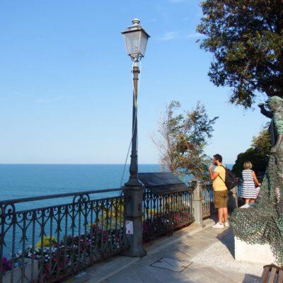 Belvedere e statua del Pescatore