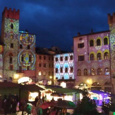 Piazza grande Arezzo luci di Natale