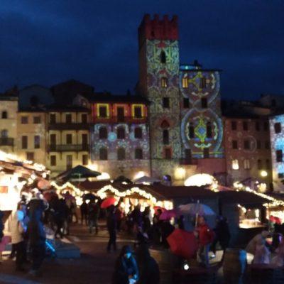 Piazza grande Arezzo luci di Natale2