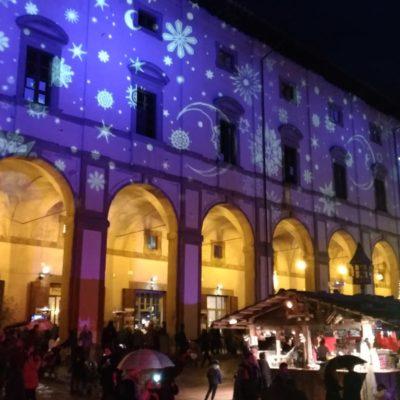Piazza grande Arezzo luci di Natale3