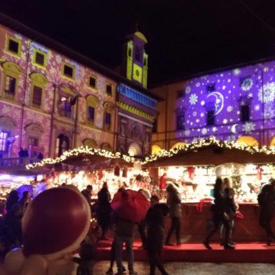 Piazza grande Arezzo luci di Natale4