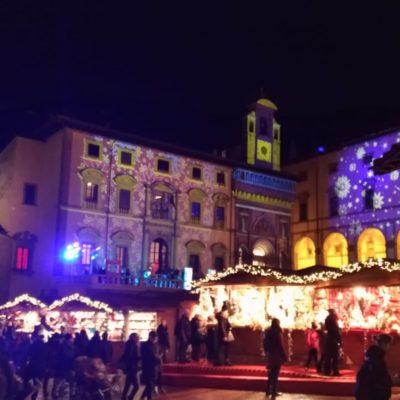 Piazza grande Arezzo luci di Natale5