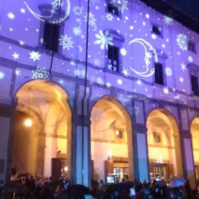 Piazza grande Arezzo luci di Natale6
