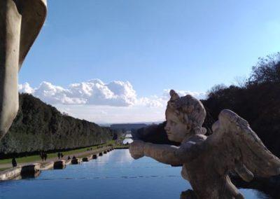Veduta e particolare fontane Reggia di Caserta