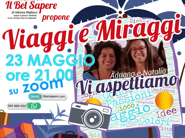 locandina evento on line viaggi e miraggi