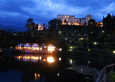 Giardini di Castel Trauttmansdorf sera2