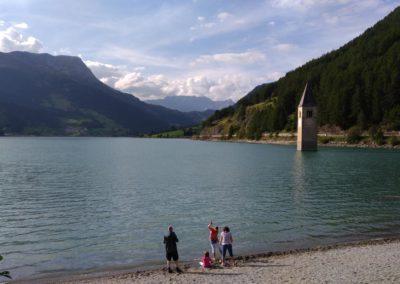 Lago di Resia famiglia