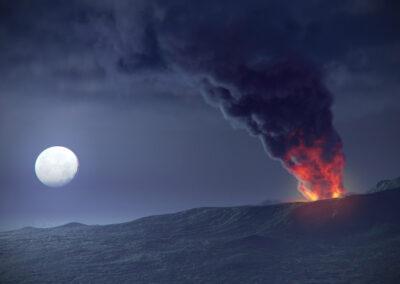 Vesuvio eruzione notte