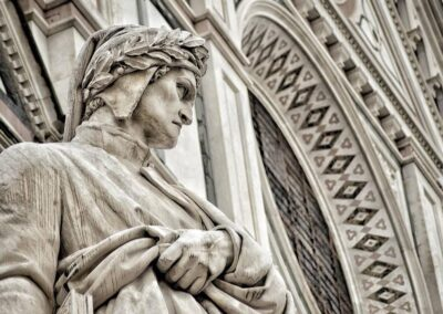 Dante e facciata di santa croce