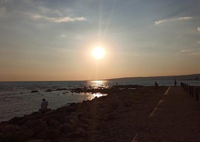 Tramonto dal Castello di Santa Severa