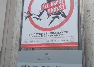 Mostra Banksy Chiostro Bramante